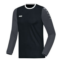 Jako Leeds de Manga Larga Camiseta Negro Gris F08