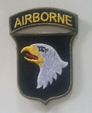 """Patch US 101st AIRBORNE OD border  """"Screaming eagle"""" WW2  - REPRO"""