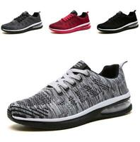 Mens Sneakers Shoes Mesh Breathable Lace up Outdoor Leisure Sport Athletic Vogue