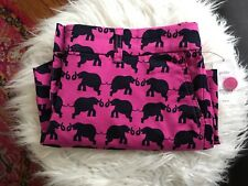 NWT Crown & Ivy Pink Navy Blue Elephant Chino Shorts 6 Petite 6 P Cotton Stretch