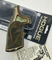 Hogue® 19443 Exotic Wood CHECKERED Grip w/ Stripe Cap, S&W K & L Round to Square
