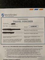 WorldStrides Travel Voucher