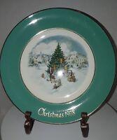 3 Avon Christmas Plates  1974,1977 and 1978 Enoch Wedgwood England