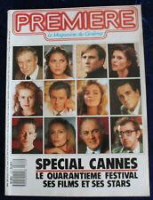 PREMIÈRE CINÉMA + Fiches - SPÉCIAL CANNES - N°122 / 1987