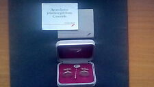 Concorde Silver Tie Pin and Cufflinks