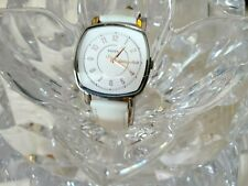 New Fossil ES4216 Idealist Square Dial White Leather Strap Women Watch (354)
