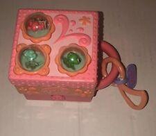 PINK Teeniest Tiniest Littlest Pet Shop FROG Playset 3 Mini Pets Carry Case LPS