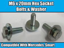 10x M6 x 20mm Hex Socket Bolts For Mercedes Benz Smart & Washer Metal Hexagonal