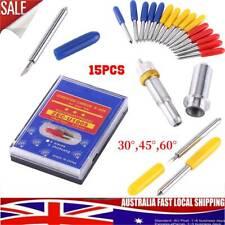 15pcs 30/45/60 Degree Blades Cutting Plotter Lettering Knife Vinyl Cutter Tool