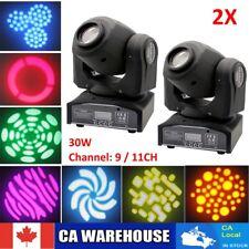 2pcs 30W RGB LED Stage Moving Head Light DMX512 Bar KTV DJ Disco Lighting 110V