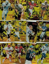 1995 SELECT CERTIFIED FOOTBALL 135-CARD MIRROR GOLD COMPLETE SET ALL SCANNED!!