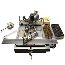 New Hermes ITF-KII Engravograph Engraving Machine w/ Font Plate Sets and Cutters