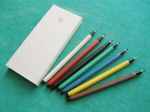 """Vintage Set of Seven Color Mechanical Pencils """"Flor""""  USSR 1980's"""