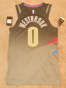 Russell Westbrook OKC Thunder Grey City Authentic Jersey sz 40 Nike New w/ tags