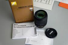 Nikon AF-S DX NIKKOR 18-105mm f/3.5-5.6G ED VR Objetivo - Negro