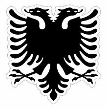 Albania national flag vinyl sticker decal bumper car truck europe nation united