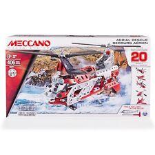 Erector by Meccano, Aerial Rescue 20 Flight Model Building Set, 406 Pieces, F.