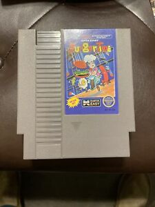 BurgerTime Nintendo Nes Cleaned & Tested Authentic