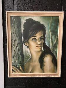 **Original** framed J H Lynch Tina, Tretchikoff era vintage