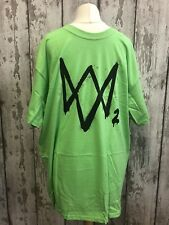 Watch DOGS 2 Verde T-SHIRT UFFICIALE PROMO UBISOFT XBOX ONE 360 PS4 PS3 Grande L