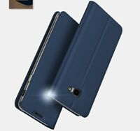 Fits Samsung Galaxy J4+Plus-Case Cover Premium PU Leather+Clear Silicone Holder