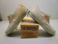 Converse skid grip white canvas blue label made in Usa sneakers shoes