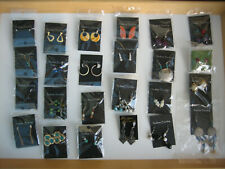 24 PAIRS COSTUME EARRINGS FOR PIERCED EARS