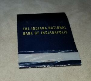 Vintage Matchbook Indiana National Bank Of Indianapolis 37 Story  Tower Banking