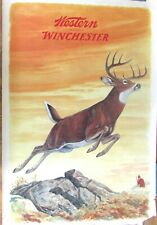 RARE 1955 Western-Winchester Rifles BUCK Hunting Advertising Poster~JG Woods