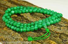 Jade Piedras Preciosas Joya Para El Cuello Mala Halskett Collar De Oración