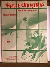 White Christmas Simplified Piano Solo Sheet Music By Irving Berlin 1943 MF6