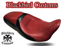 HD Street Glide Road Glide Touring Seat Cover RED Croc  Gator 2011-2018