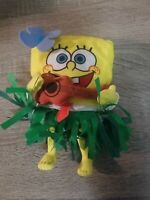 "SpongeBob Squarepants Plush Hawaiian Hula Dancer w Ukulele Mattel 2002 7"""