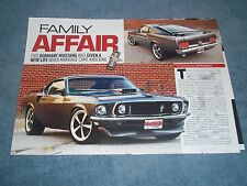 """1969 Ford Mustang SportsRoof RestoMod Article """"Family Affair"""" Fastback"""