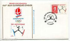 FRANCE FDC premier jour, JEUX OLYMPIQUES ALBERTVILLE, SKI ARTISTIQUE timbre 2709