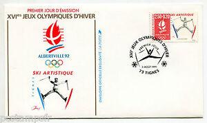 France FDC Premier Day, Games Olympic Albertville, Ski Artistic Stamp 2709