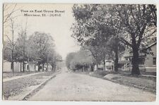 c1910 MORRISON Illinois Ill Postcard EAST GROVE STREET Homes