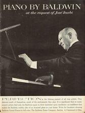 1961 Baldwin Piano PRINT AD Features Pianist Jose Iturbi  'Perfection'