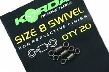 Korda Size 8 Swivels *Pack Of 20* NEW Carp Fishing