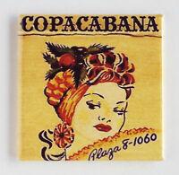 Copacabana FRIDGE MAGNET (2 x 2 inches) Carmen Miranda dancer fruit hat dancing