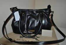 NWT $1,395 BURBERRY London BLACK Leather Tote Bag Crossbody Handbag ITALY