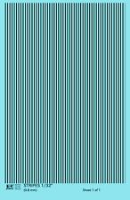 K4 HO Decals Black 1/32 Inch Stripes Set