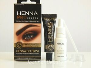 💥HENNA EYEBROW EYELASH TINT LONG LASTING FULL KIT DYE CREAM 15ml💥DARK BROWN💥