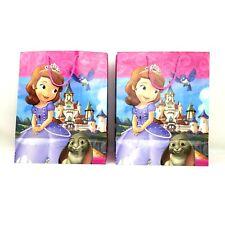 "2pc Hallmark Expressions Disney Sofia the First Gift Bag 13"" X 10.5"" X 5.5"""