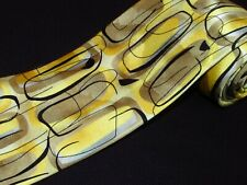 J Garcia Tie Arches Coll 54 Limited Edition Long Golden Yellow Gold Abstract