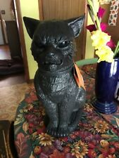 NWT  Halloween Scary Black Cat With Glowing Green Eyes  Animated With Sound