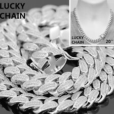 """14K WHITE GOLD FINISH BLING OUT CUBAN LINK CHOKER CHAIN NECKLACE 20""""x12mm 142g"""