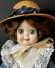 """Vintage Reproduction of JDK 221 Ges Gesch Googly Eyes 13"""" Porcelain Doll"""