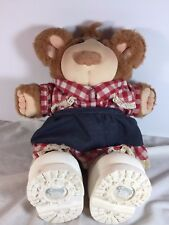 """Vintage FURSKINS Celelia 15"""" Cow Girl Bear Doll - Cabbage Patch Toys"""