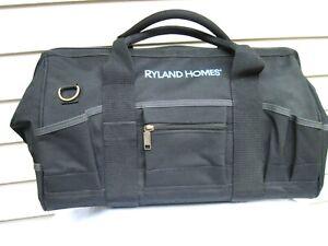 "Ryland Homes Black Duffle Tool Bag Travel Sport Carry On 18"" x 10 1/2"" x 10"" New"